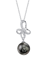 Tahitian South Sea Pearl & Diamond Aiden Pendant