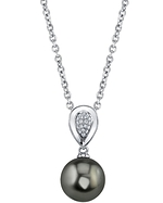 Tahitian South Sea Pearl & Diamond Alexandra Pendant