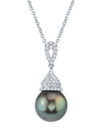 Tahitian South Sea Pearl & Diamond Amanda Pendant