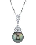 Tahitian South Sea Pearl & Diamond Amanda Pendant