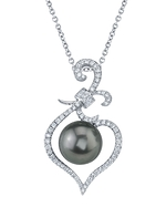 Tahitian South Sea Pearl & Diamond Ann Pendant