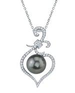 Tahitian South Sea Pearl & Diamond Ann Pendant