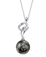 Tahitian South Sea Pearl & Diamond Aria Pendant