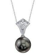Tahitian South Sea Pearl & Diamond Ava Pendant