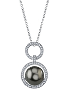 Tahitian South Sea Pearl & Diamond Cameron Pendant