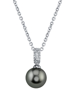 Tahitian South Sea Pearl & Diamond Belinda Pendant