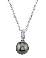 Tahitian South Sea Pearl & Diamond Belinda Pendant