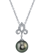Tahitian South Sea Pearl & Diamond Caroline Pendant