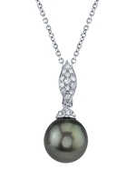 Tahitian South Sea Pearl & Diamond Connie Pendant