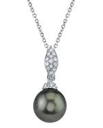 Tahitian South Sea Pearl & Diamond Connie Pendant