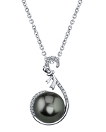 Tahitian South Sea Pearl & Diamond Courtney Pendant