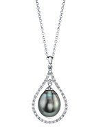 Tahitian South Sea Pearl & Diamond Danielle Pendant