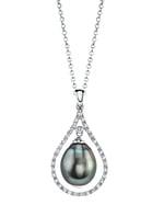 Tahitian South Sea Pearl & Diamond Danielle Pendant