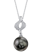 Tahitian South Sea Pearl & Diamond Elsa Pendant