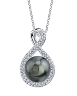 Tahitian South Sea Pearl & Diamond Erica Pendant