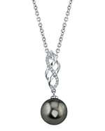 Tahitian South Sea Pearl & Diamond Estelle Pendant