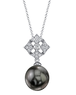 Tahitian South Sea Pearl & Diamond Jade Pendant
