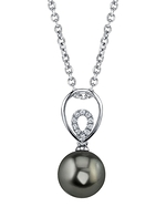 Tahitian South Sea Pearl & Diamond Jocelyn Pendant