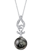 Tahitian South Sea Pearl & Diamond Judy Pendant