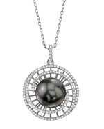 Tahitian South Sea Pearl & Diamond Karen Pendant