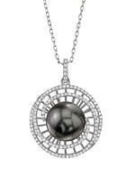 Tahitian South Sea Pearl & Diamond Karen Pendant