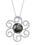 Tahitian South Sea Pearl & Diamond Kirsten Pendant