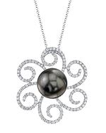 Tahitian South Sea Pearl & Diamond Kirsten Pendant
