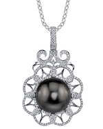 Tahitian South Sea Pearl & Diamond Kylie Pendant