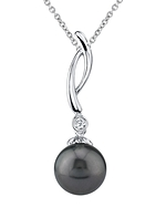 Tahitian South Sea Pearl & Diamond Madison Pendant