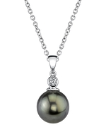 Tahitian South Sea Pearl & Diamond Michelle Pendant