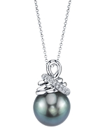 Tahitian South Sea Pearl & Diamond Michaela Pendant