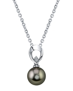 Tahitian South Sea Pearl & Diamond Morgan Pendant