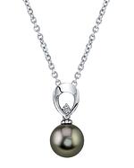 Tahitian South Sea Pearl & Diamond Morgan Pendant