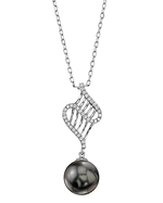 Tahitian South Sea Pearl & Diamond Nancy Pendant