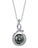 Tahitian South Sea Pearl & Diamond Pippa Pendant