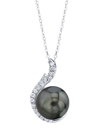 Tahitian South Sea Pearl & Diamond Rebecca Pendant