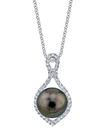 Tahitian South Sea Pearl & Diamond Ruth Pendant