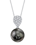 Tahitian South Sea Pearl & Diamond Sofia pendant