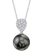 Tahitian South Sea Pearl & Diamond Sofia pendant