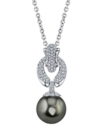 Tahitian South Sea Pearl & Diamond Casey Pendant