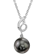 Tahitian South Sea Pearl & Diamond Symphony Pendant