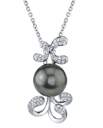 Tahitian South Sea Pearl & Diamond Talia Pendant
