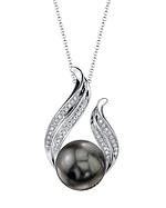 Tahitian South Sea Pearl & Diamond Tiara Pendant