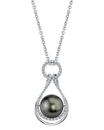 Tahitian South Sea Pearl & Diamond Victoria Pendant