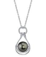 Tahitian South Sea Pearl & Diamond Victoria Pendant