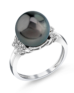 Tahitian South Sea Pearl & Diamond Nora Ring