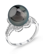 Tahitian South Sea Pearl & Diamond Rafaella Ring