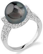 Tahitian South Sea Pearl Sparkling Jewel Ring
