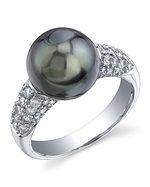 Tahitian South Sea Pearl & Diamond Serenity Ring