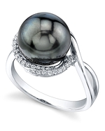 Tahitian South Sea Pearl & Diamond Summer Ring